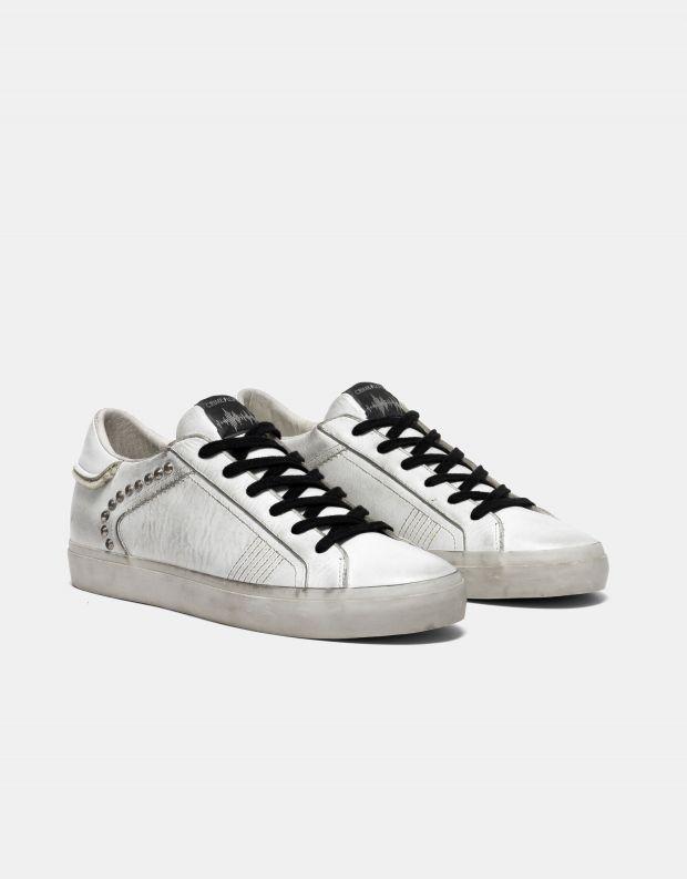 נעלי גברים - Crime London - סניקרס SOUL ניטים - לבן