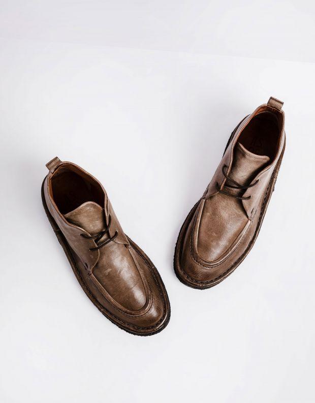 נעלי גברים - A.S. 98 - נעליים עם תיפורים OASIS - אפור