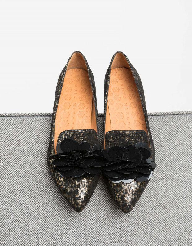נעלי נשים - Chie Mihara - נעלי RONDITA - שחור   זהב