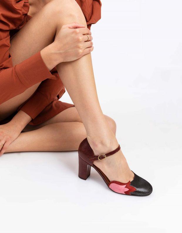 נעלי נשים - Chie Mihara - נעלי WABAN - שחור ורוד