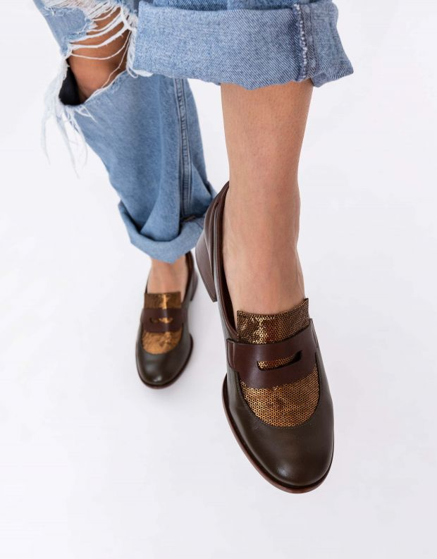 נעלי נשים - Chie Mihara - נעלי SABAS - ירוק   חום