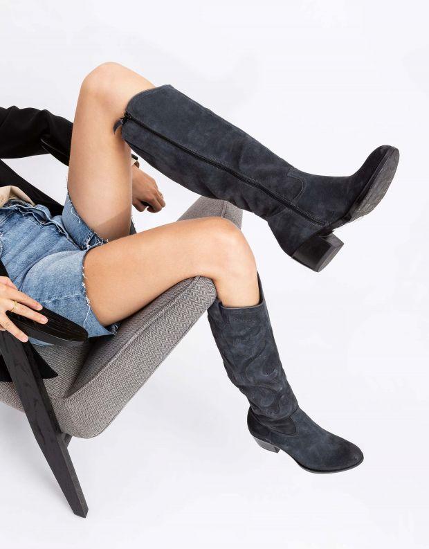 נעלי נשים - Mjus - מגפי בוקרים DALLAS - אפור