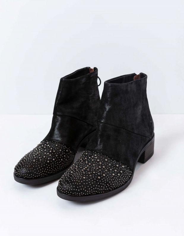 נעלי נשים - Mjus - מגפוני MARILU ניטים - שחור