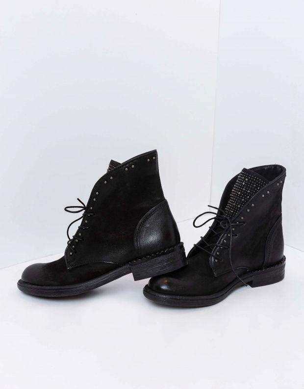 נעלי נשים - Mjus - מגפונים לשון ניטים PALLY - שחור