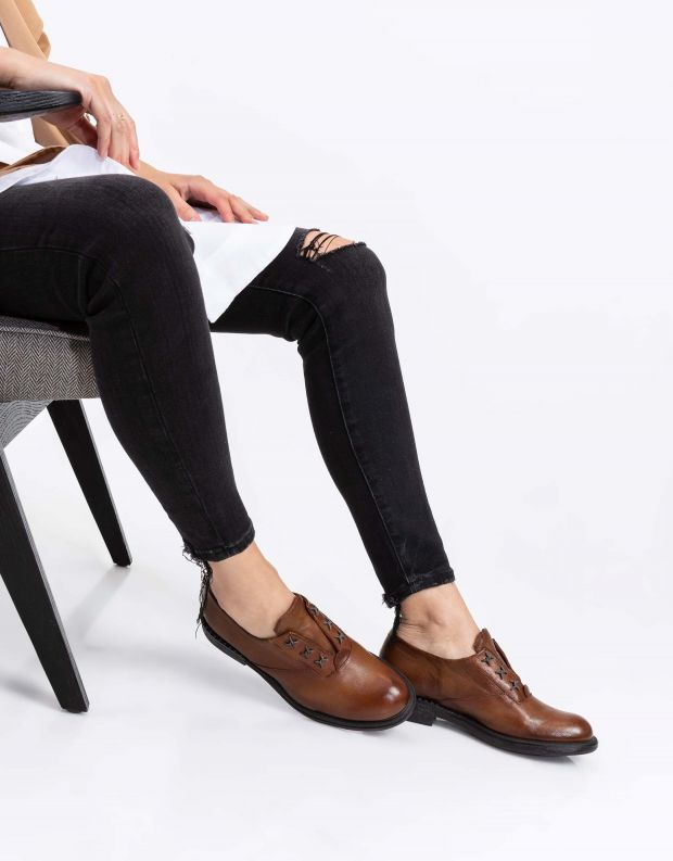 נעלי נשים - Mjus - נעלי סליפ-און PALLY - קוניאק