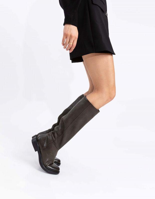 נעלי נשים - Mjus - מגפי עור CAFE - ירוק