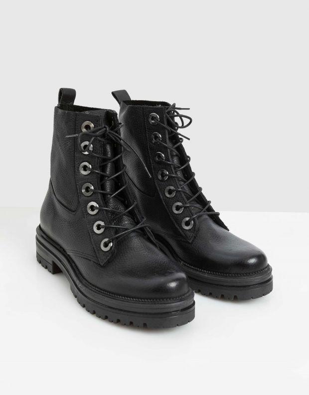 נעלי נשים - Mjus - מגפוני DOBLE - שחור