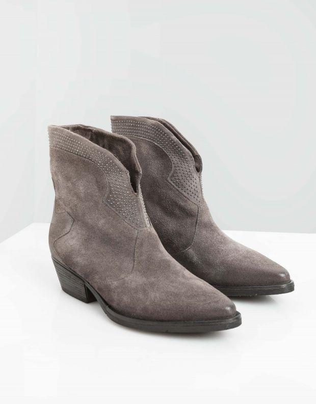 נעלי נשים - Mjus - מגפוני זמש CALMA - אפור