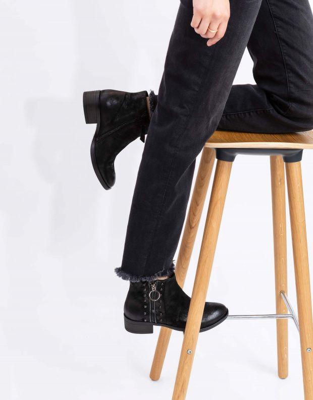 נעלי נשים - Mjus - מגפוני MARILU רוכסנים - שחור
