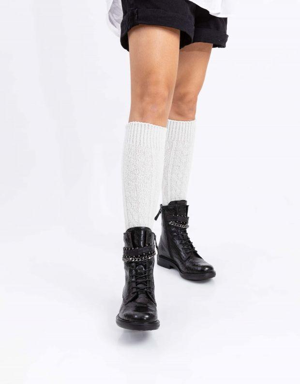 נעלי נשים - Mjus - מגפונים עם שרשרת CAFE - שחור