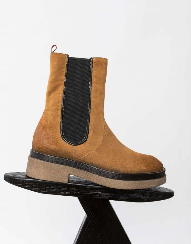 נעלי נשים - Mjus - מגפוני צ'לסי PARAT - קאמל