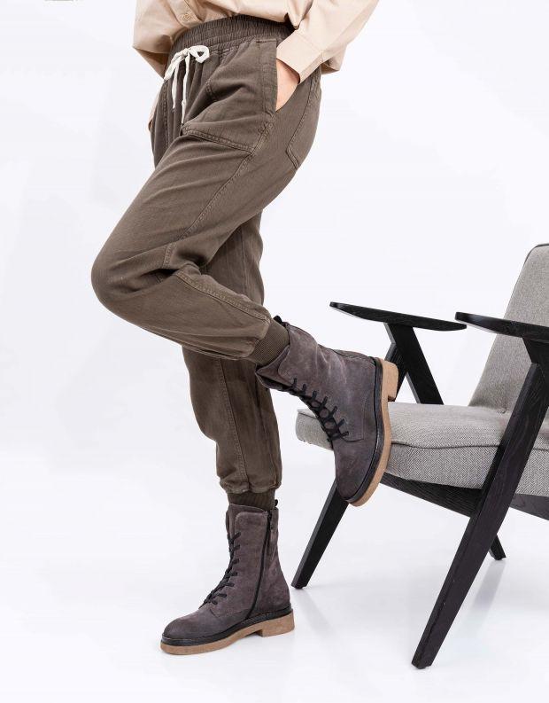 נעלי נשים - Mjus - מגפונים עם שרוכים PARAT - אפור