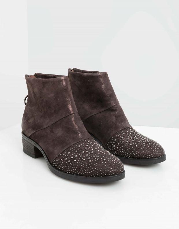נעלי נשים - Mjus - מגפוני MARILU ניטים - חום