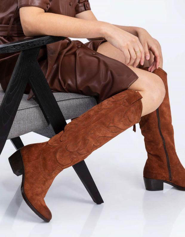 נעלי נשים - Mjus - מגפי בוקרים DALLAS - קוניאק