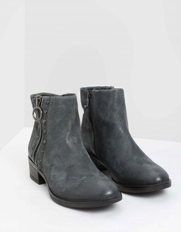 נעלי נשים - Mjus - מגפוני MARILU רוכסנים - אפור