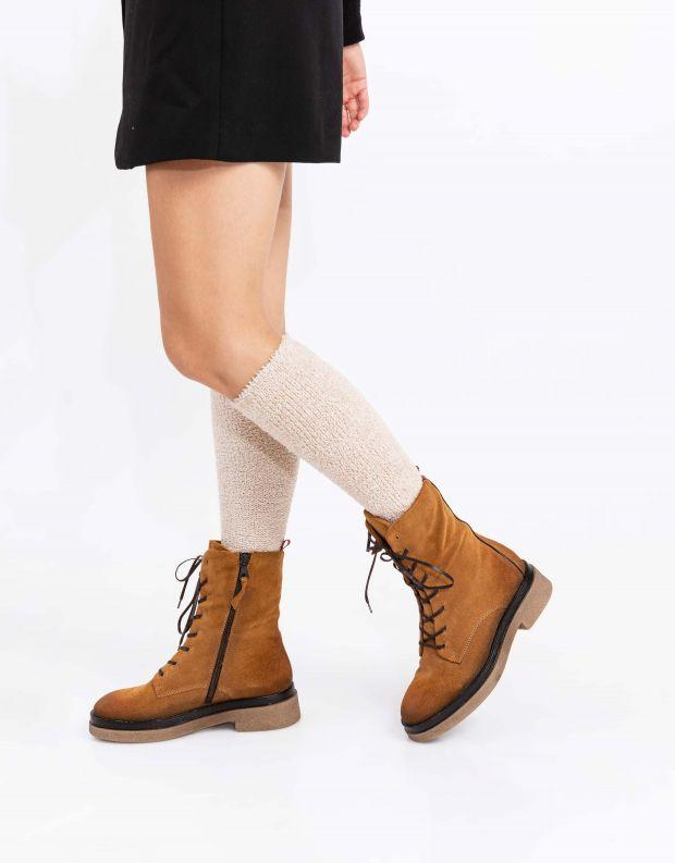 נעלי נשים - Mjus - מגפונים עם שרוכים PARAT - קאמל
