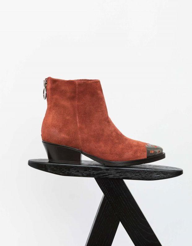 נעלי נשים - Mjus - מגפוני זמש CALAMETAL - חמרה