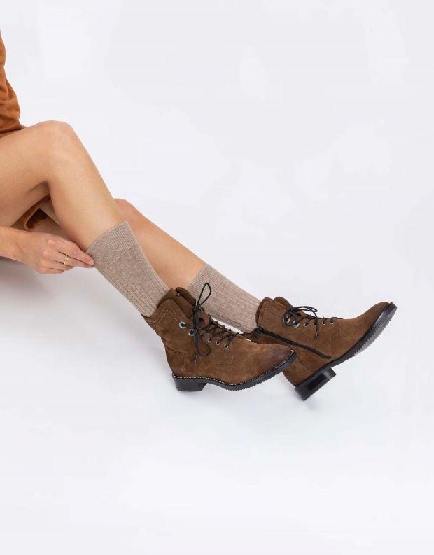 נעלי נשים - Mjus - מגפונים עם שרוכים ZARKO - חום