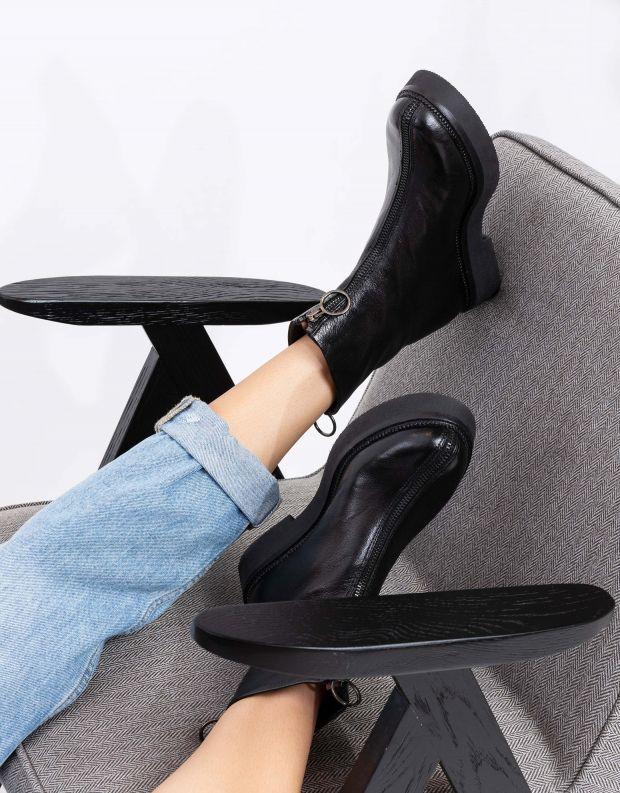 נעלי נשים - Mjus - מגפוני TRIPLE רוכסן - שחור