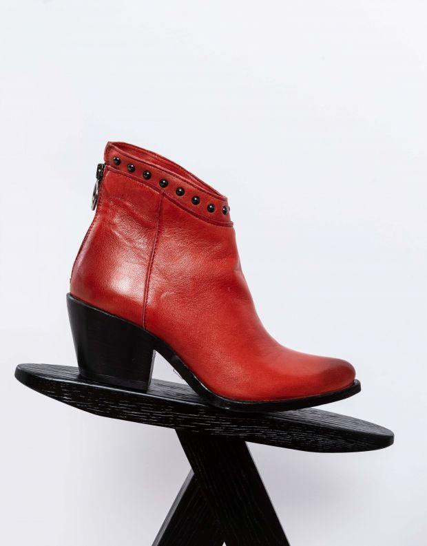 נעלי נשים - Mjus - מגפוני ניטים TEP - אדום