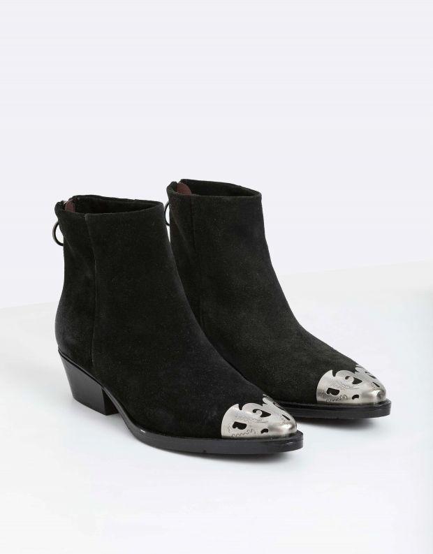 נעלי נשים - Mjus - מגפוני זמש CALAMETAL - שחור