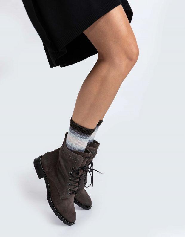 נעלי נשים - Mjus - מגפונים עם שרוכים ZARKO - אפור