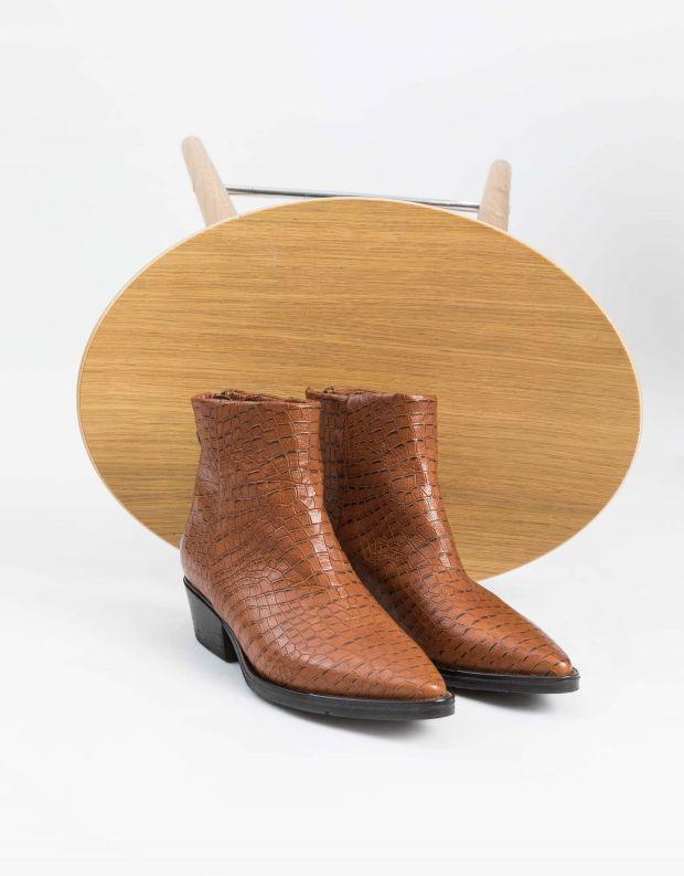 נעלי נשים - Mjus - מגפוני CALAMITY קרוקו - קאמל