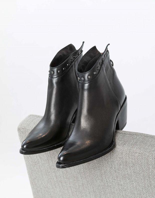 נעלי נשים - Mjus - מגפוני ניטים TEP - שחור