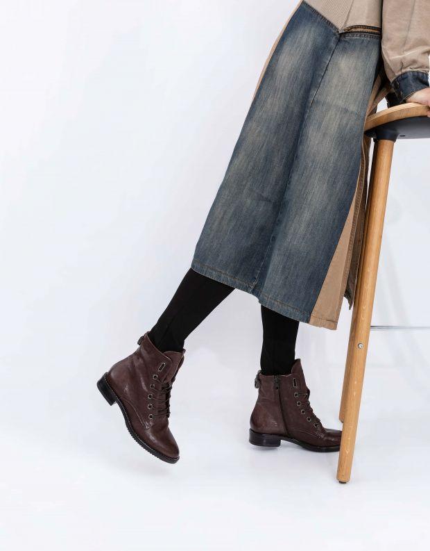נעלי נשים - Mjus - מגפוני ZARKO שרוך - חום
