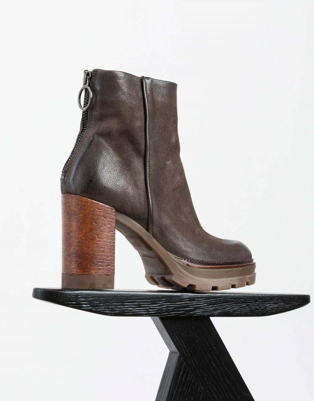 נעלי נשים - Mjus - מגפוני עקב AMARANTA - חום