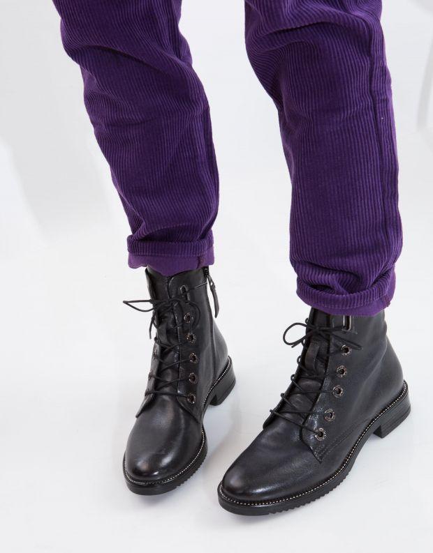 נעלי נשים - Mjus - מגפוני ZARKO שרוך - אפור