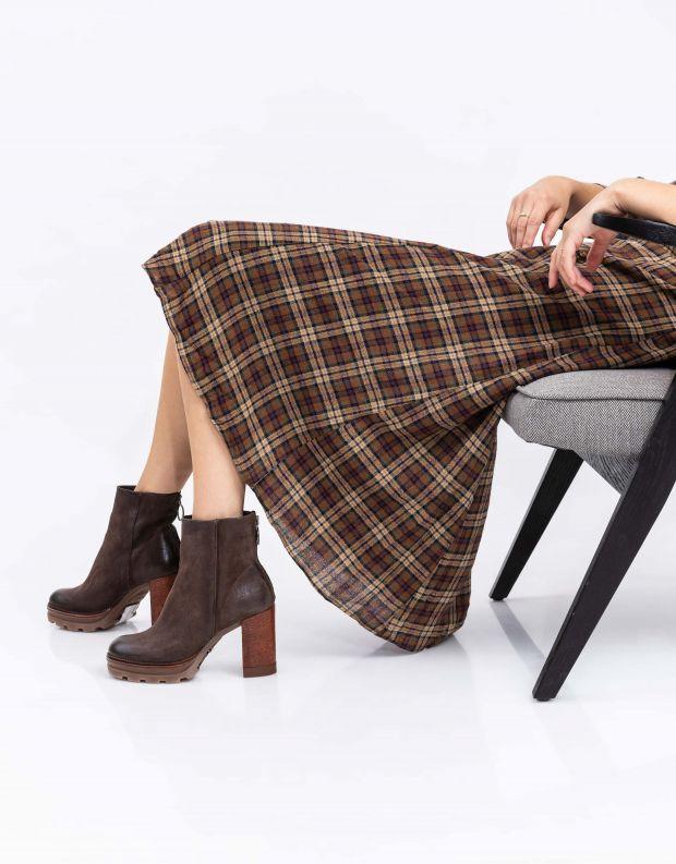 נעלי נשים - Mjus - מגפונים עם עקב AMARANTA - חום