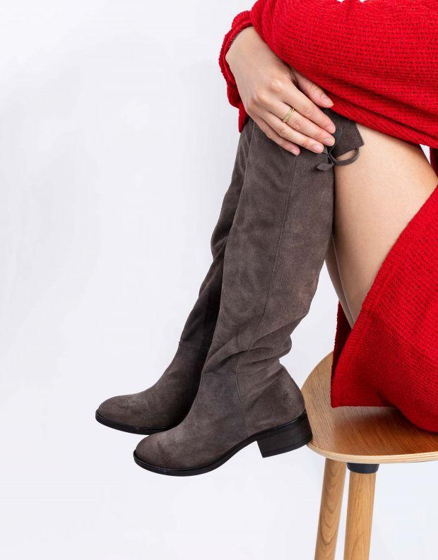 נעלי נשים - Mjus - מגפי זמש MARILU - אפור