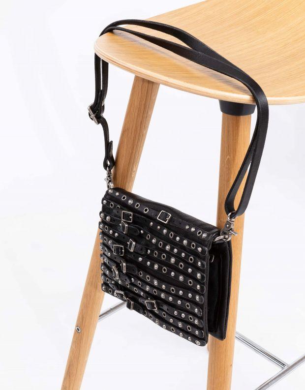נעלי נשים - A.S. 98 - תיק קטן רצועות ואבזמים - שחור