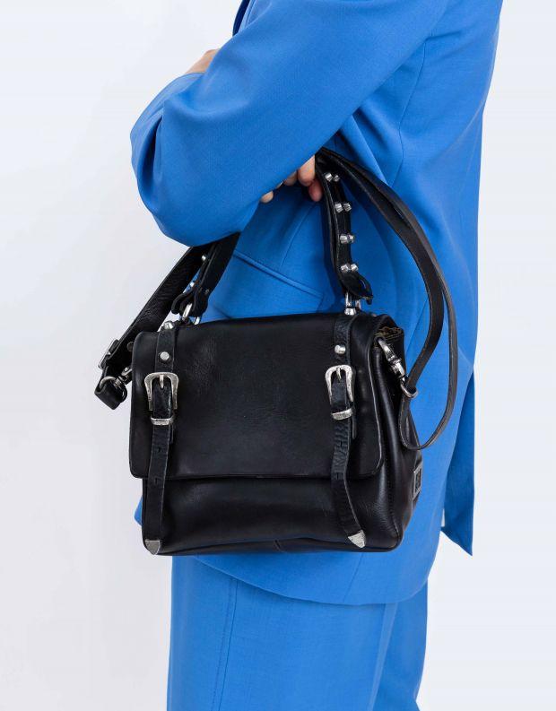 נעלי נשים - A.S. 98 - תיק מלבן קטן אבזמים - שחור