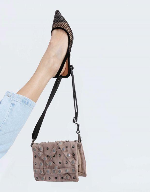 נעלי נשים - A.S. 98 - תיק רצועות וניטים קטן - אפור