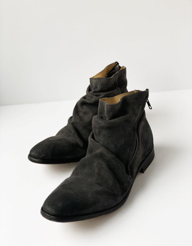 נעלי גברים - Hudson - מגפי NOELLE זמש - אפור