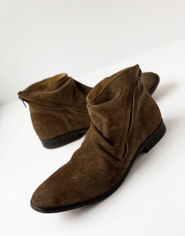 נעלי גברים - Hudson - מגפי NOELLE זמש - חום בהיר
