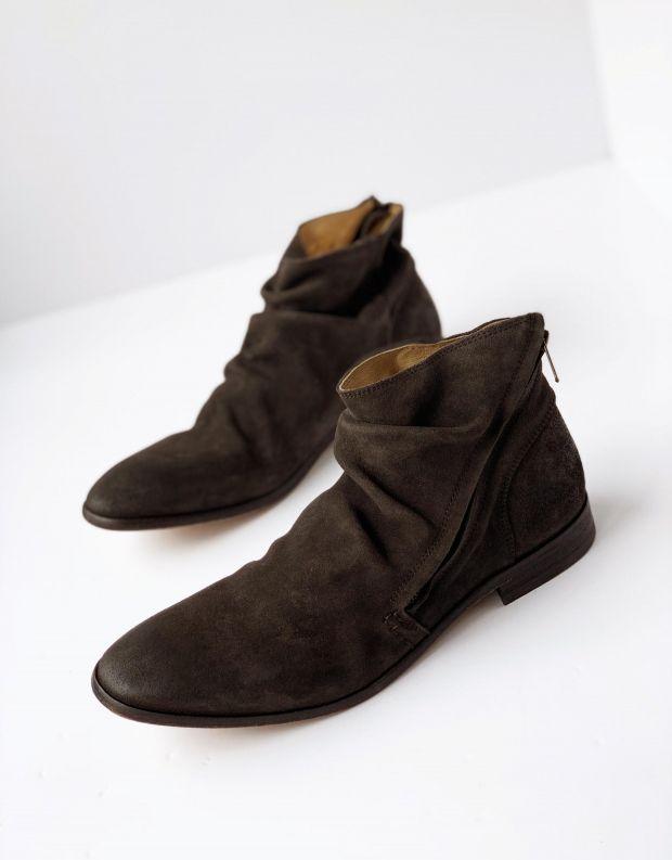 נעלי גברים - Hudson - מגפי NOELLE זמש - חום כהה