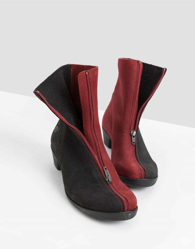נעלי נשים - loints of Holland - מגפונים בשני צבעים OPERA - אדום   שחור