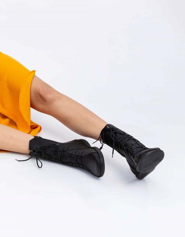 נעלי נשים - loints of Holland - מגפיים עם תיפורים NATURAL - שחור