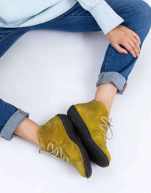נעלי נשים - loints of Holland - נעליים גבוהות FUSION - ירוק בהיר
