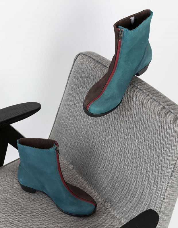נעלי נשים - loints of Holland - מגפונים בשני צבעים OPERA - כחול   חום