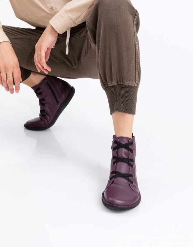 נעלי נשים - loints of Holland - מגפון NATURAL - בורדו