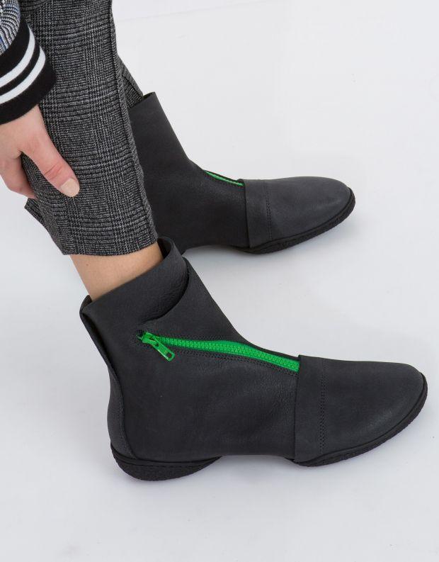 נעלי נשים - Trippen - מגפון צבעוני BERLIN CUP - שחור ירוק