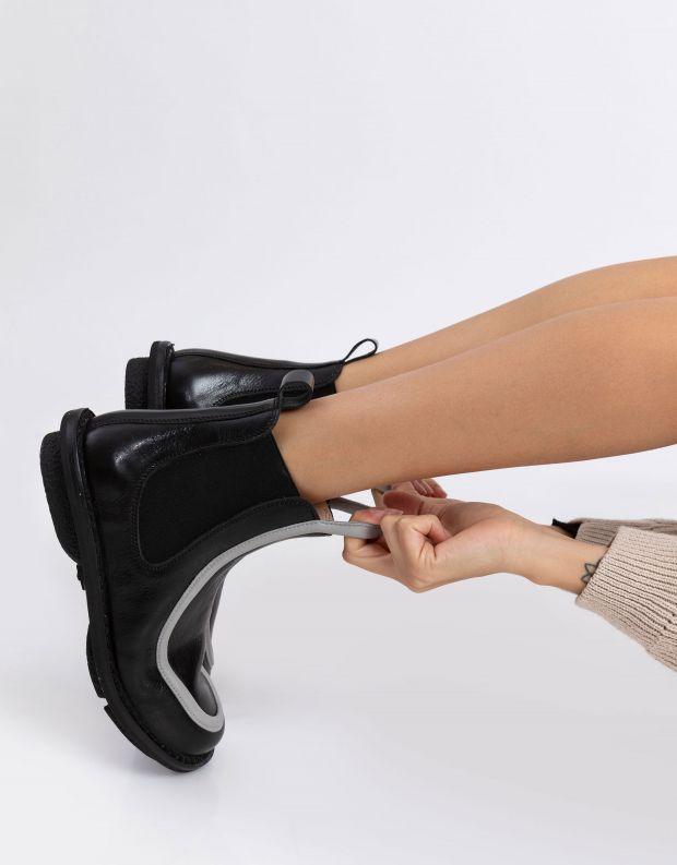 נעלי נשים - Trippen - מגפונים REFERENCE CLOSED - שחור אפור