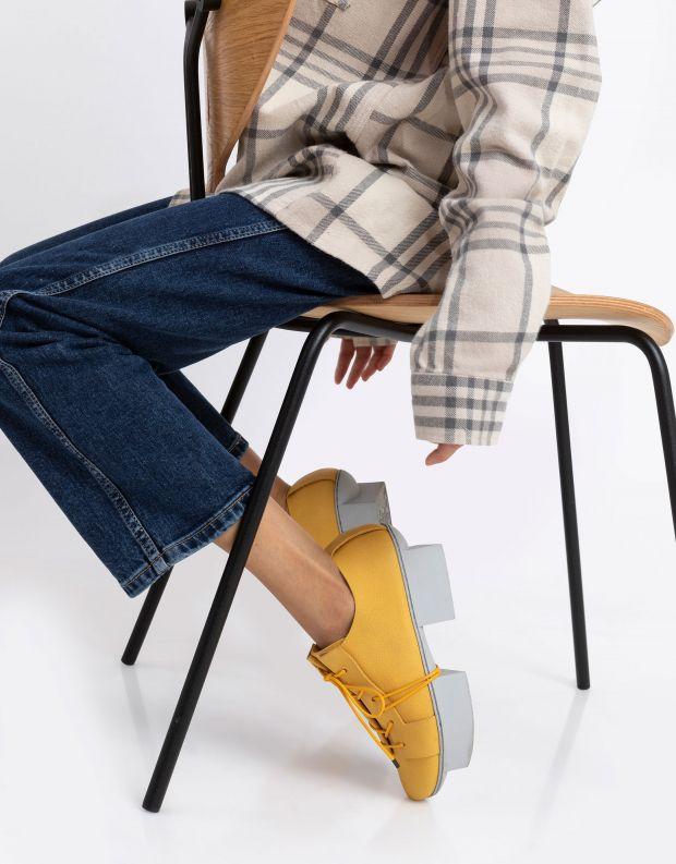 נעלי נשים - Trippen - נעל RIFT BOX - צהוב