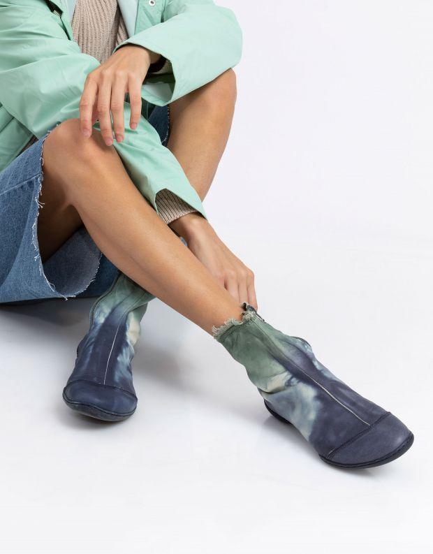נעלי נשים - Trippen - מגפון SHADE CUP - כחול   ירוק