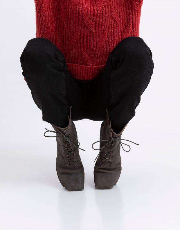 נעלי נשים - Trippen - מגפונים CRIME BOX עם שרוך - אפור