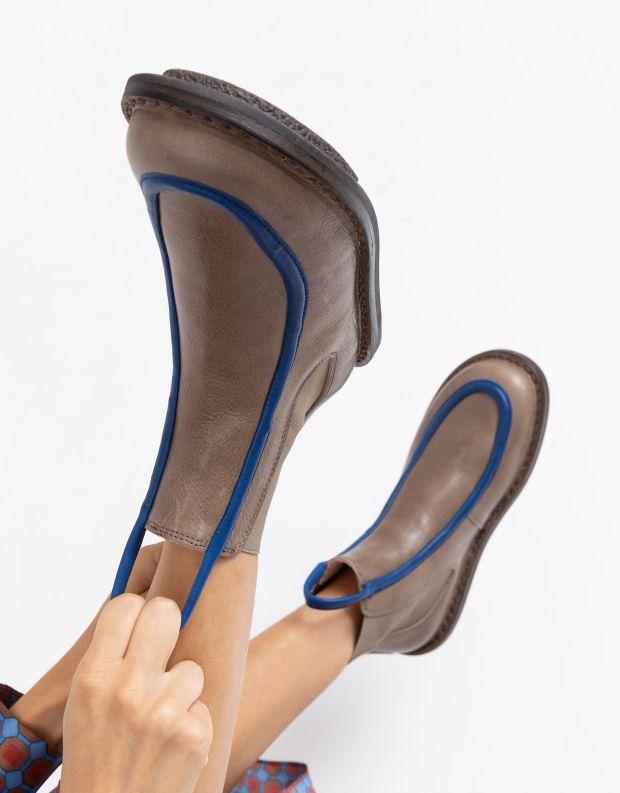 נעלי נשים - Trippen - מגפונים REFERENCE CLOSED - בז'   כחול